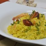 Risotto with shrimps and saffron