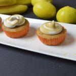 Banana and lemon cupcakes